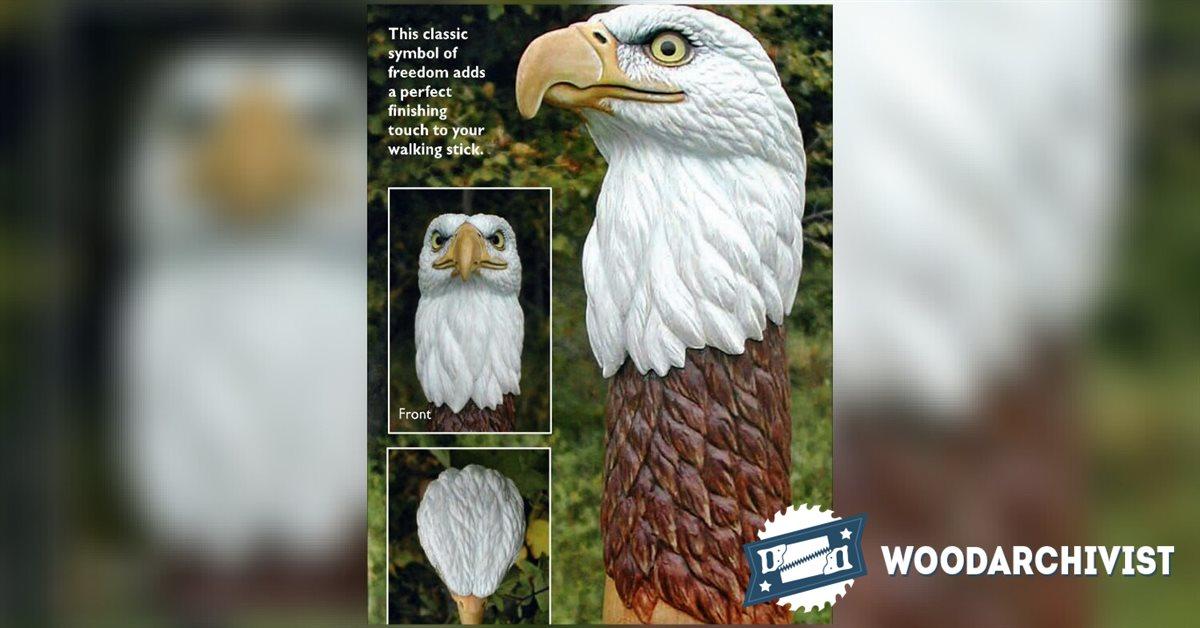 Carving Eagle Bust Woodarchivist
