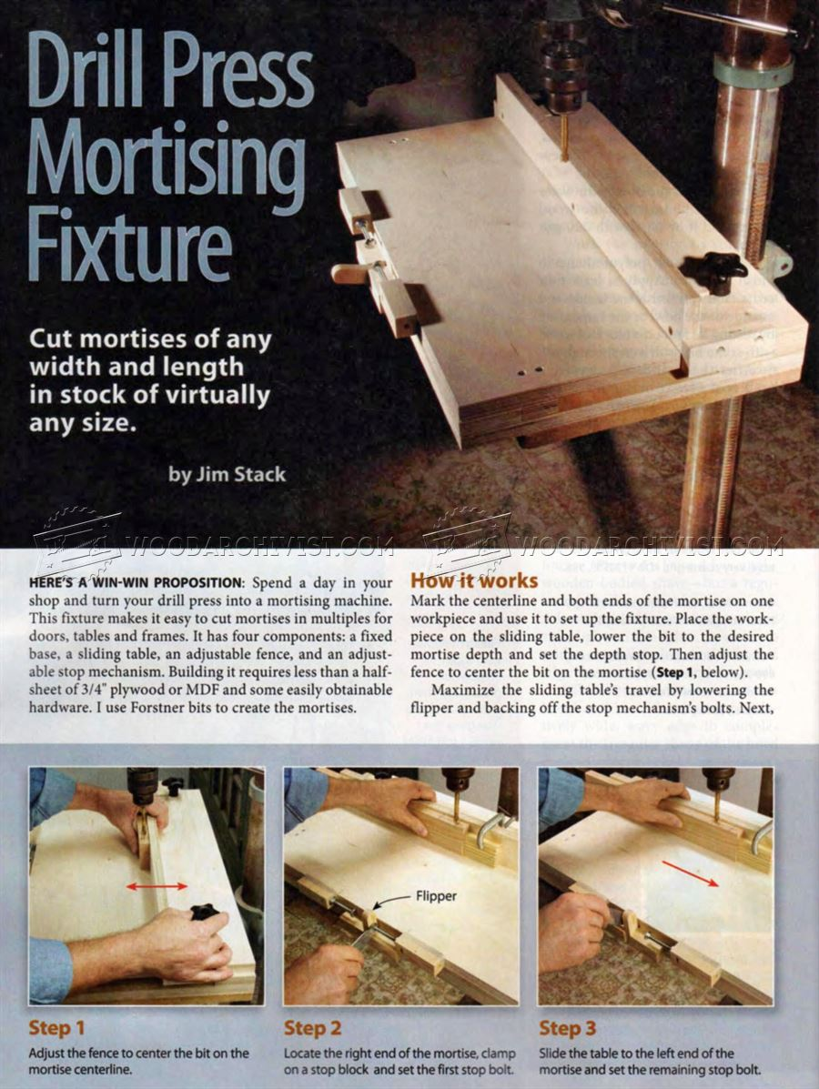Mortise Jig For Drill Press