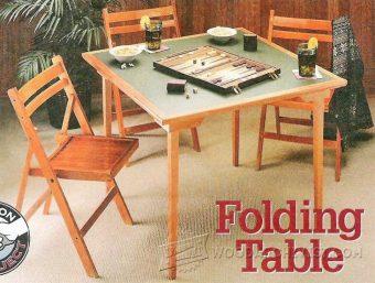 Civil War Folding Table Plans WoodArchivist