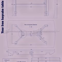 Outdoor Kitchen Construction Plans Affordable Kitchens Hayrake Table • Woodarchivist