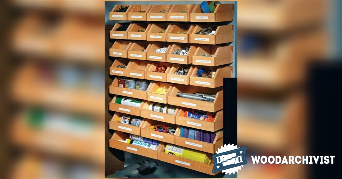 DIY Hardware Organizer  WoodArchivist
