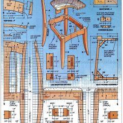 Queen Anne Dining Chair Design Workshop Side Plans • Woodarchivist