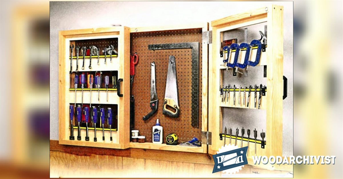 Pegboard Tool Cabinet Plans  WoodArchivist