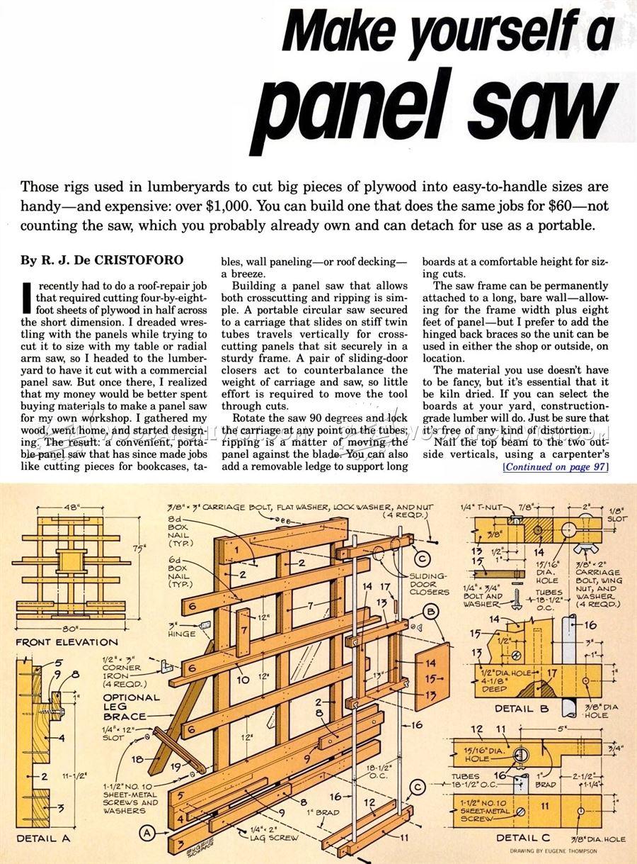 Homemade Vertical Panel Saw Plans Homemade Ftempo