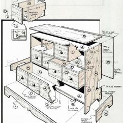Diy Outdoor Sofa Table White Washed Apothecary Chest Plans • Woodarchivist
