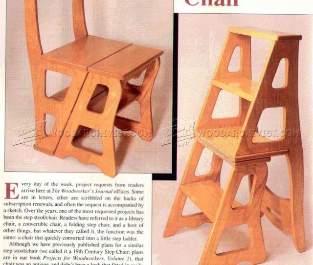 Chair Step Stool Plans