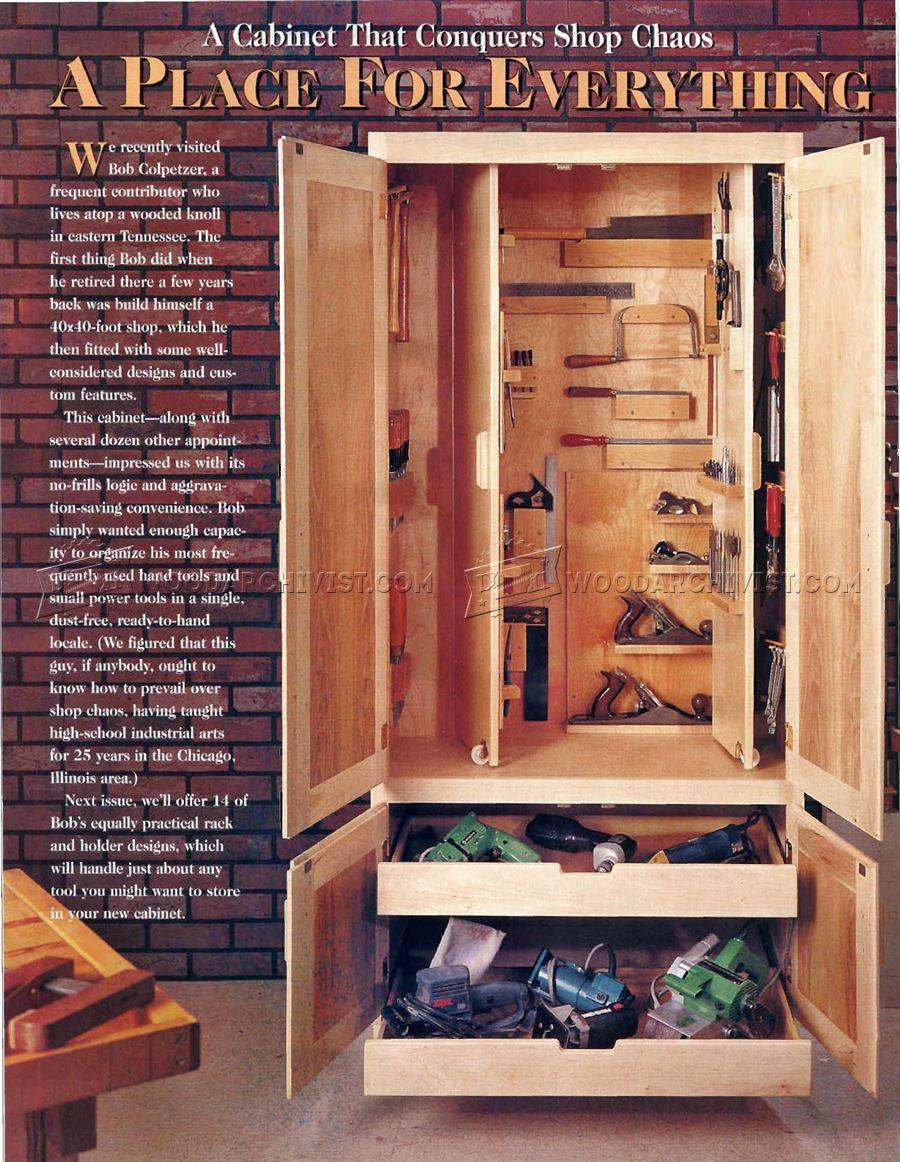 Shop Cabinet Plans  WoodArchivist