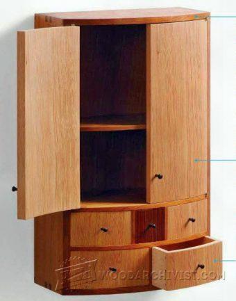 DVD Wall Cabinet Plans  WoodArchivist