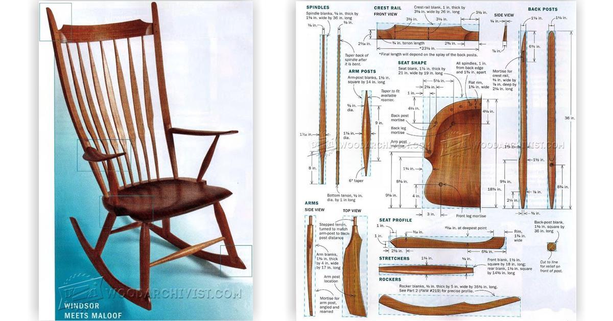 Windsor Rocking Chair Plans  WoodArchivist