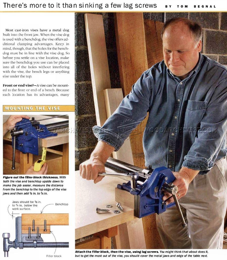 Install Woodworking Vise Woodarchivist