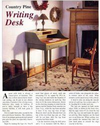 Writing Desk Plans  WoodArchivist