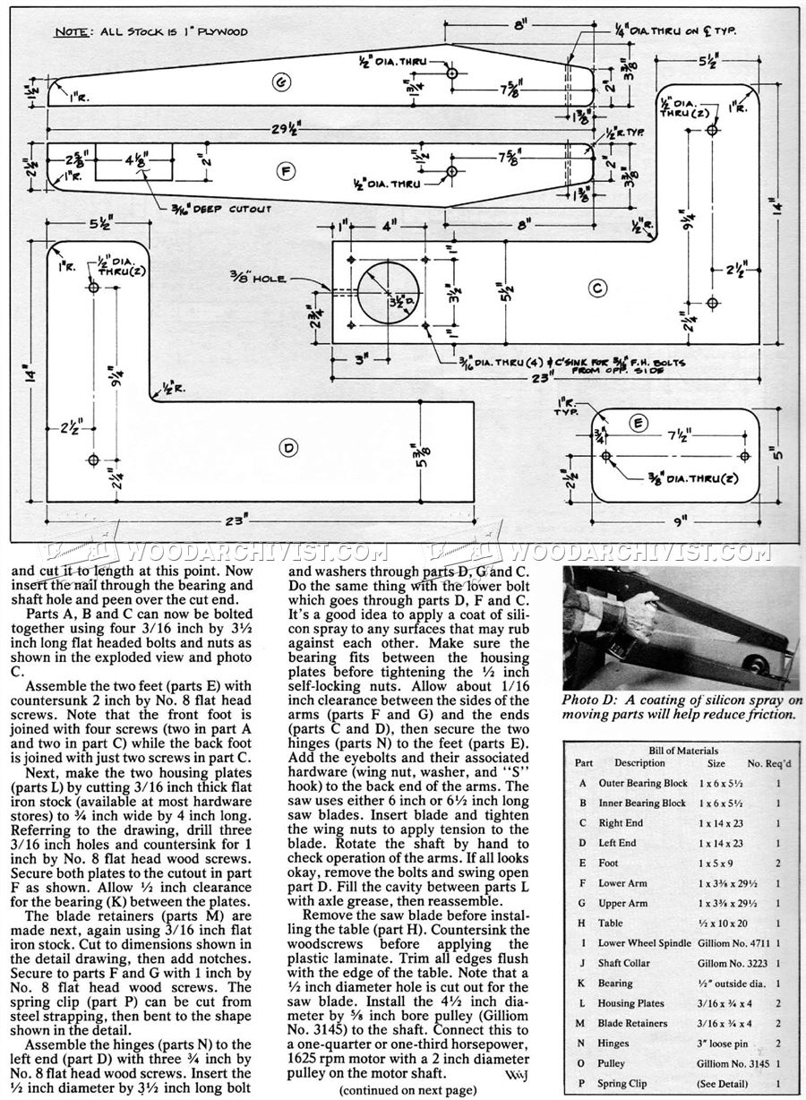 HomeMade Scroll Saw Plans  WoodArchivist