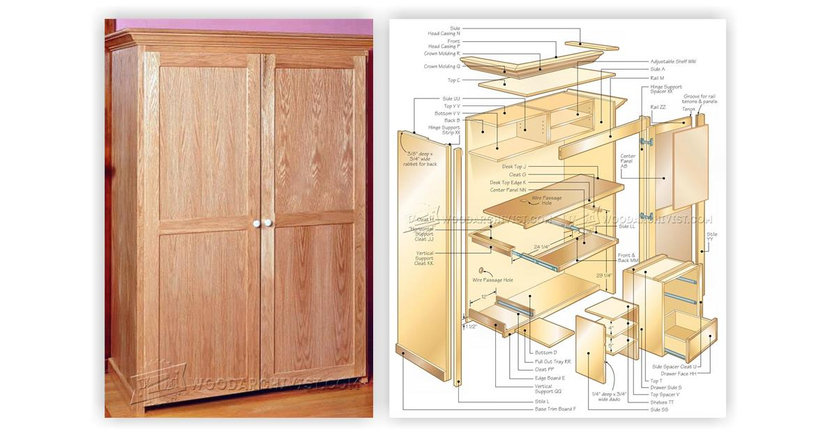 Free Armoire Wardrobe Plans Cabinetmaking How To Build A