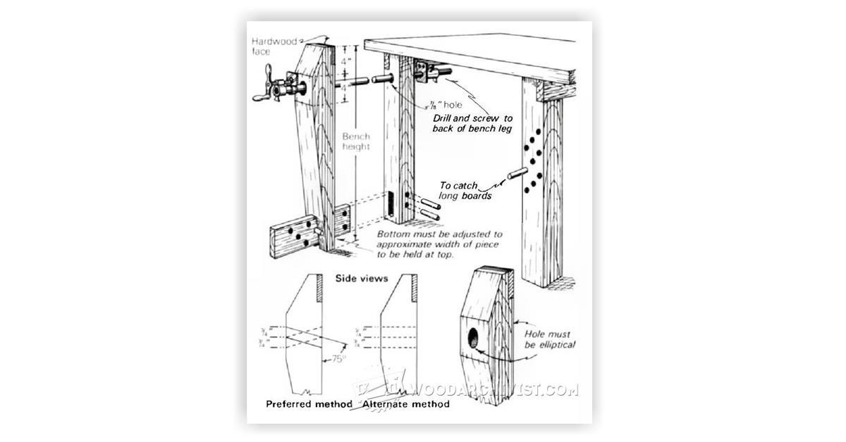 DIY Leg Vise • WoodArchivist