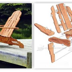 Outdoor Folding Rocking Chair Side Table Build Adirondack • Woodarchivist