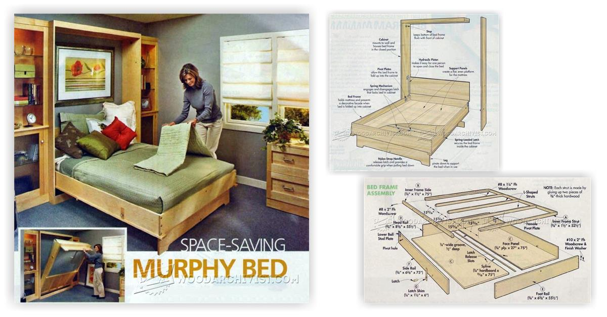 plans to build a sofa bed white modern leather murphy • woodarchivist