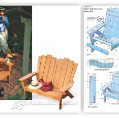 Outdoor Folding Chair With Footrest Ergonomic Without Wheels Adirondack Love Seat Plans • Woodarchivist