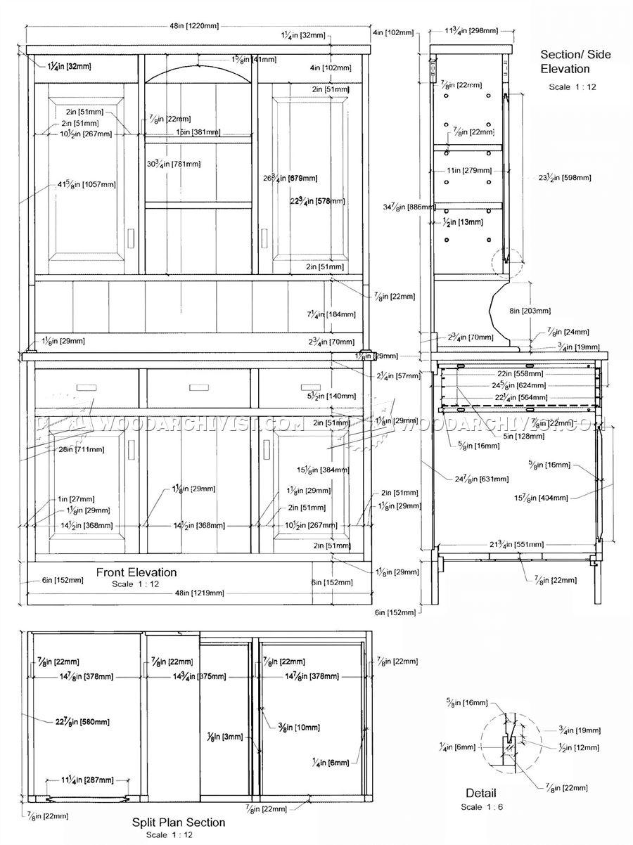 Kitchen Dresser Plans • WoodArchivist