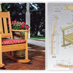 Folding Rocking Chair Wood Design Within Reach Chairs Outdoor Plans • Woodarchivist