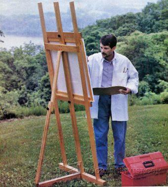 Artist Easel Plans  WoodArchivist