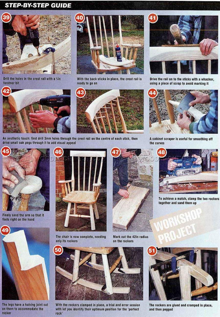 oak rocking chair plans rubber casters shaker woodarchivist