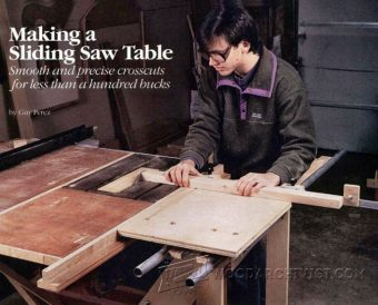 DIY Sliding Table  WoodArchivist