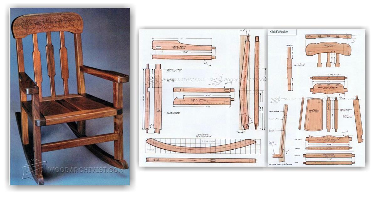 wooden childrens rocking chair ghost desk kids plans • woodarchivist