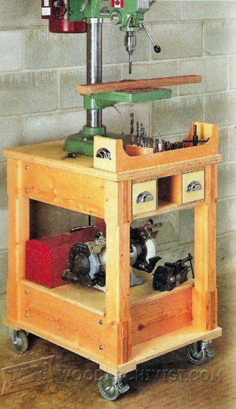 Drill Press Mobile Base Plans  WoodArchivist