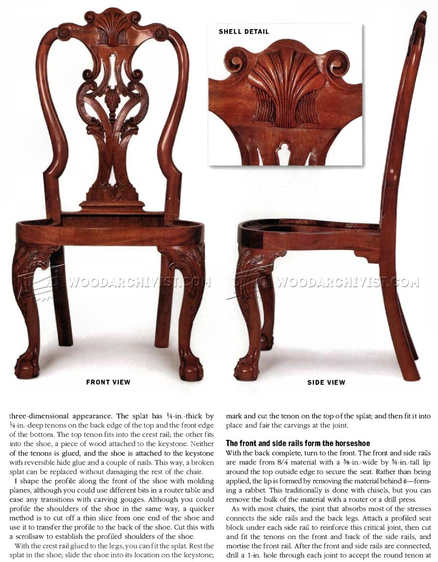 Queen Anne Side Chair Plans  WoodArchivist