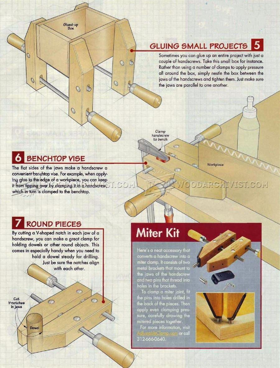 Using Hand Screw Clamp  WoodArchivist