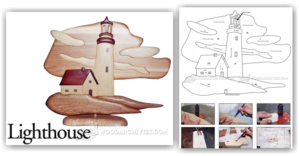 Lighthouse  Intarsia Projects  WoodArchivist