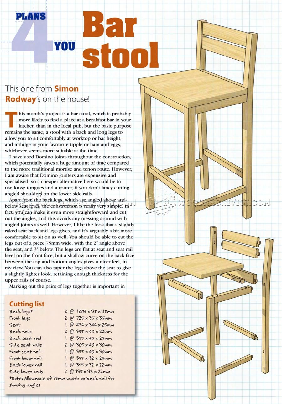 DIY Bar Stools WoodArchivist