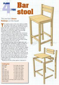 diy bar stool plans - Diy (Do It Your Self)