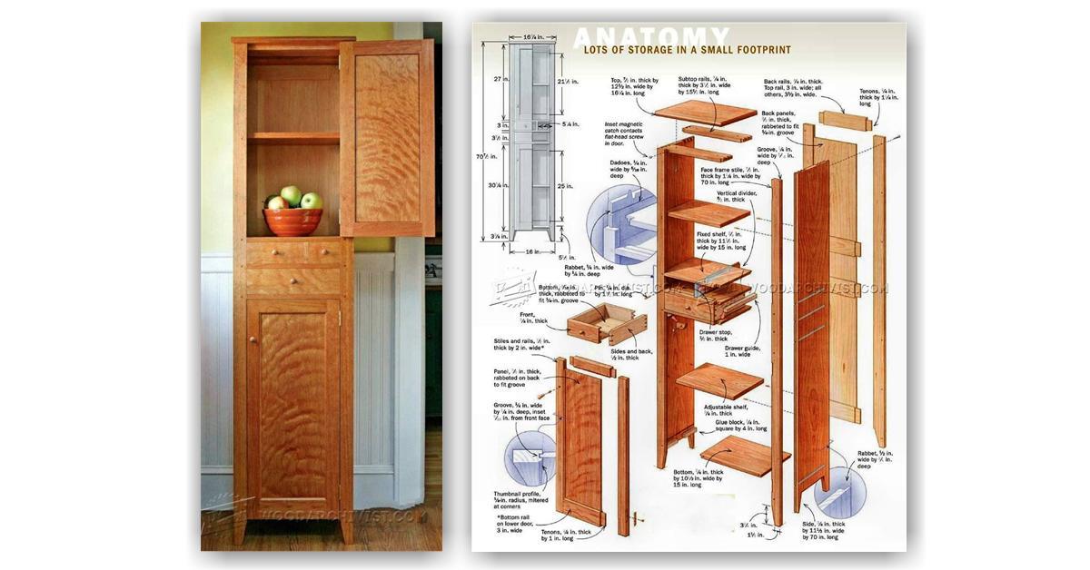 Chimney Cupboard Plans WoodArchivist