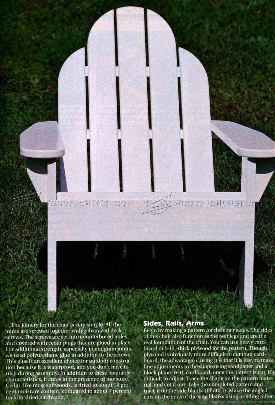 folding wooden chair pedicure and manicure chairs classic adirondack plans • woodarchivist