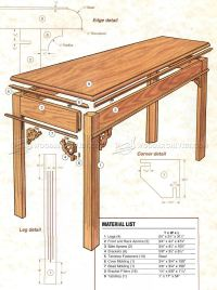 Sofa Table Plans Ana White Rustic X Sofa Table Diy ...
