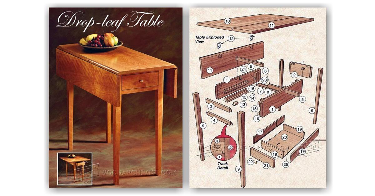 kitchen table legs farmers sinks for drop leaf plans • woodarchivist