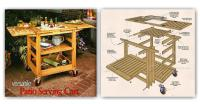 Patio Serving Cart Plans  WoodArchivist