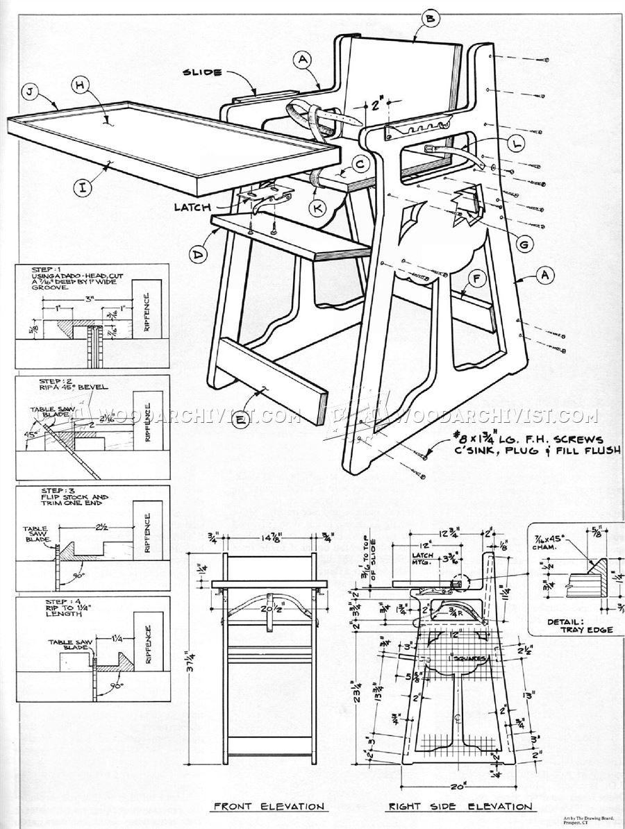 DIY High Chair • WoodArchivist