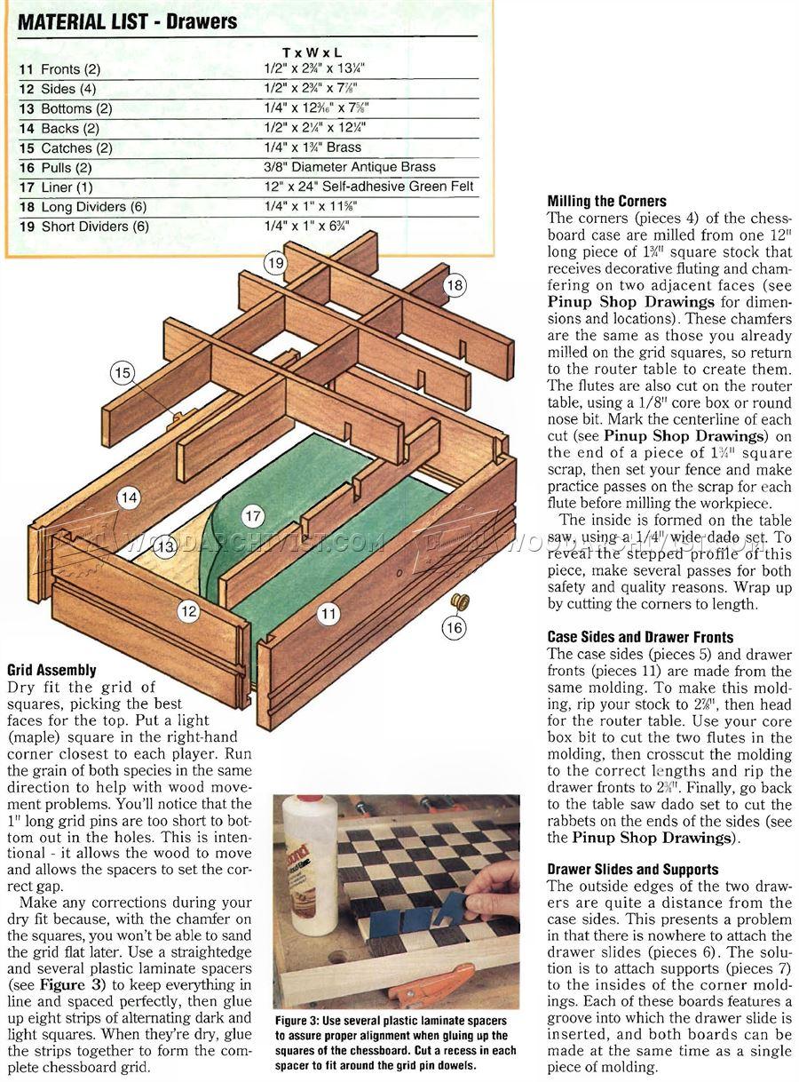 Chess Board Plans  WoodArchivist