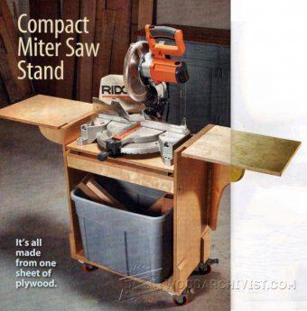 Wood Storage and Miter Saw Stand Plans  WoodArchivist