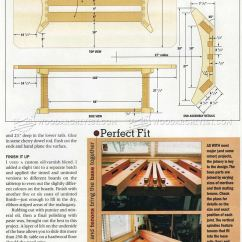 Kitchen Cabinet Plans Utensil Sets Trestle Table • Woodarchivist