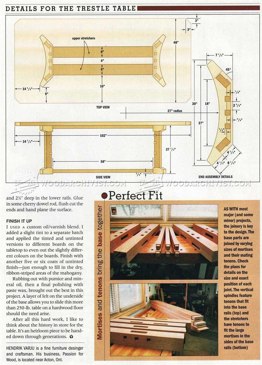 how to build a kitchen cabinet delta faucet repair parts trestle table plans • woodarchivist