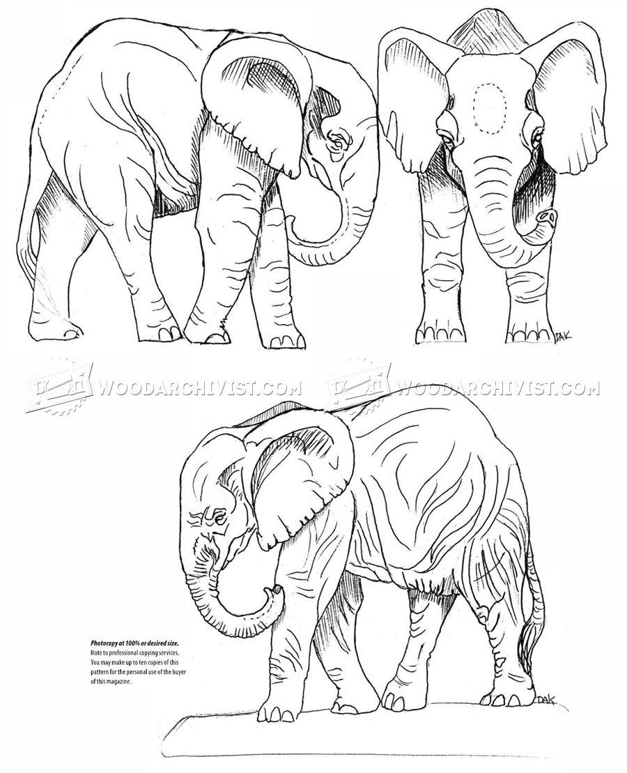 African Elephant Carving • WoodArchivist