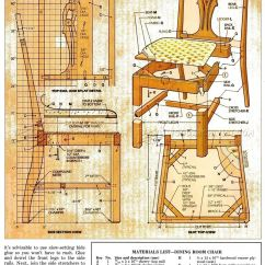 Cherry Dining Chairs Fishing Chair Nash Room Plans • Woodarchivist