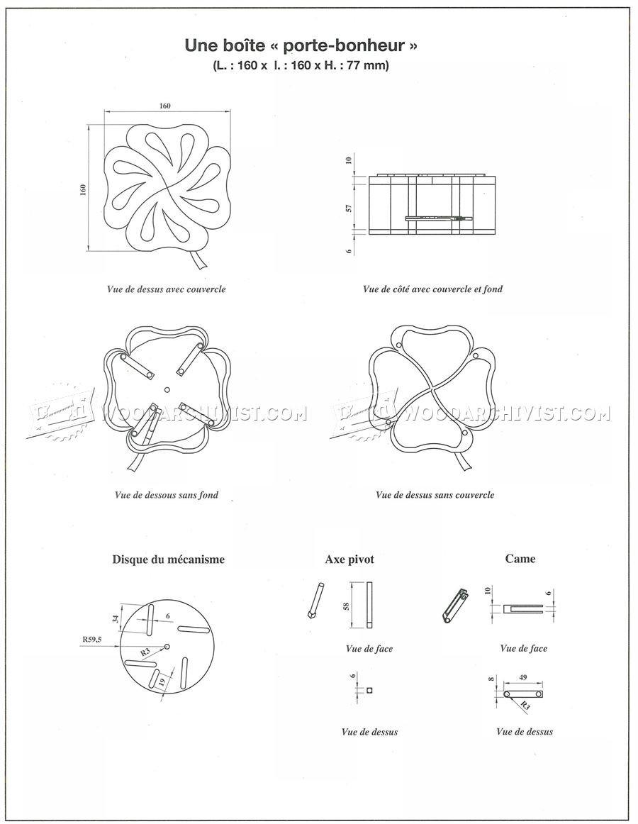 Quatrefoil Box Plans • WoodArchivist