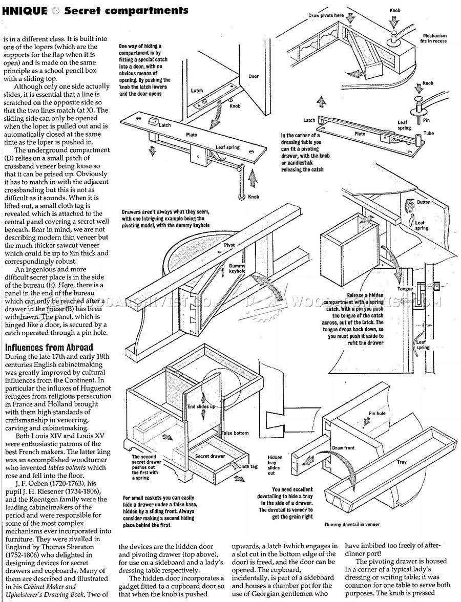 Secret Compartment Furniture • WoodArchivist