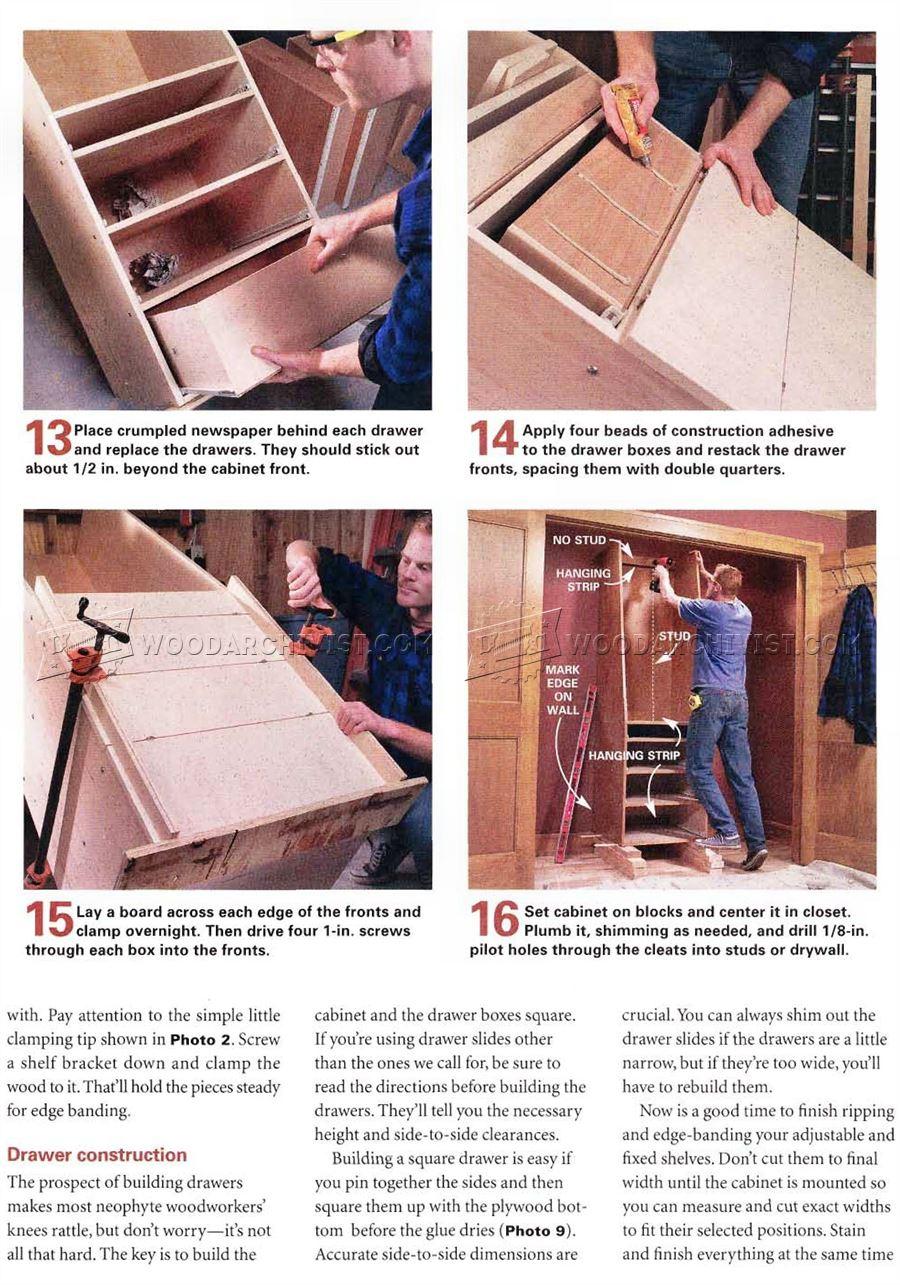 Built In Closet Plans  WoodArchivist