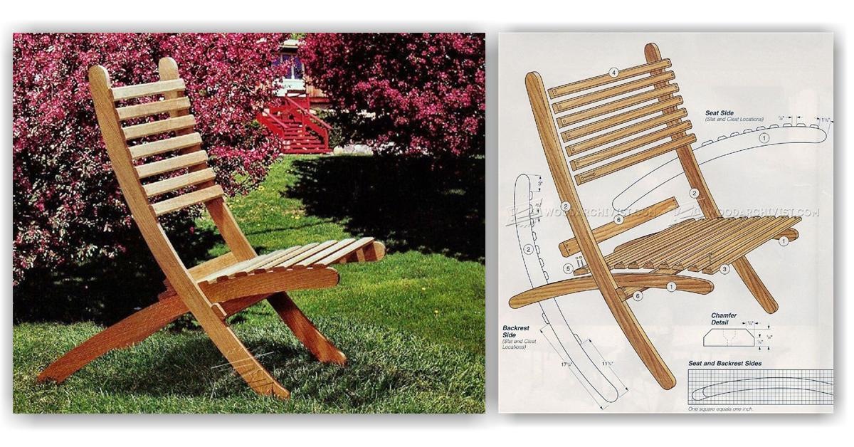 folding outdoor lounge chair chairs and table set plans • woodarchivist