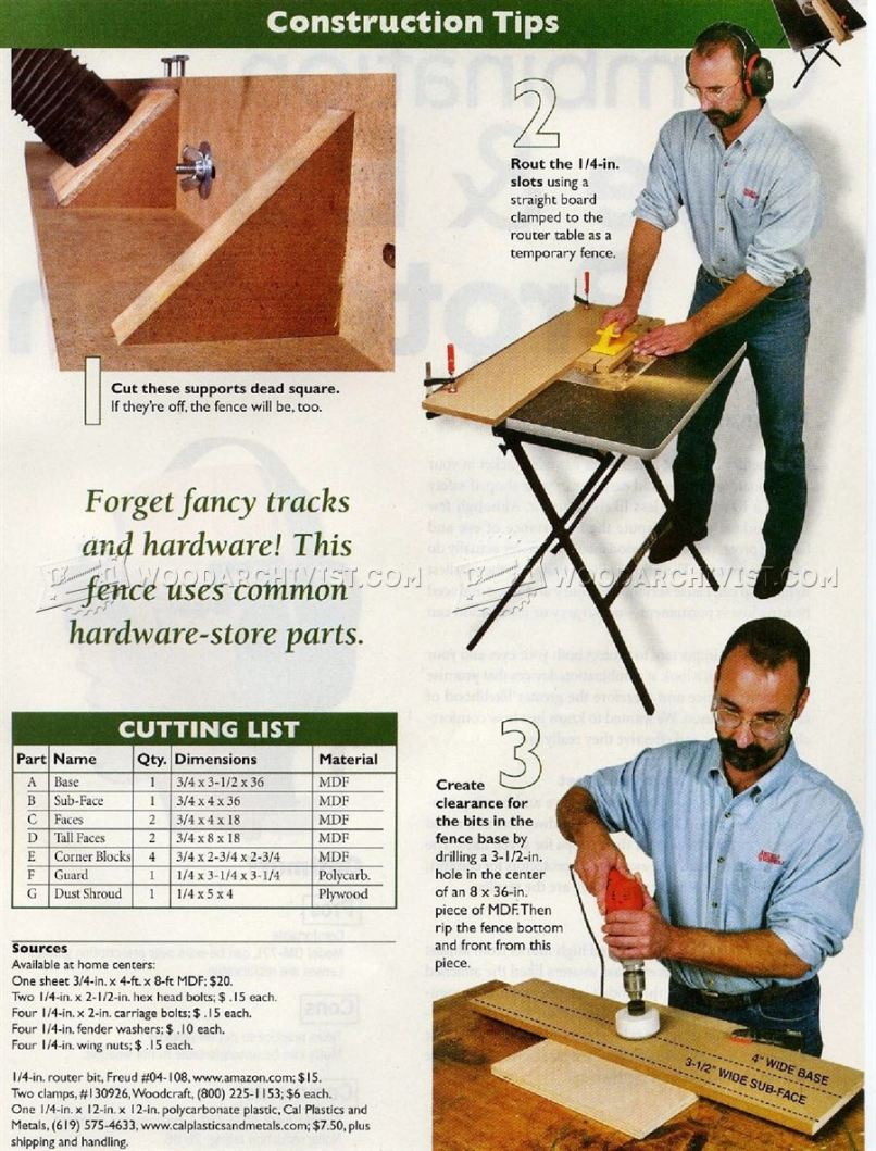 diy router table fence plans diydrywalls org